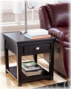 Espresso Deep Brown End Table by Ashley Furniture
