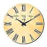 MeSleep Vintage Wall Clock With Glass Top