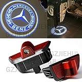2pcs led door light courtesy projector lamp for merrceedes for Mercedes benz car care kit