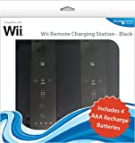 echange, troc Blue Ocean Accessories Twin Remote Charging Station - Black (Wii) [import anglais]