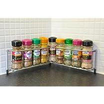 Worktop Corner Spice Rack British Made