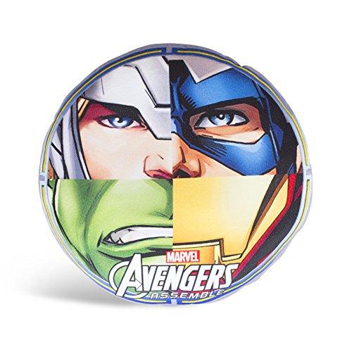 Character World Disney Marvel Avengers Team Shaped - Cuscino con i Vendicatori della Marvel, multicolore