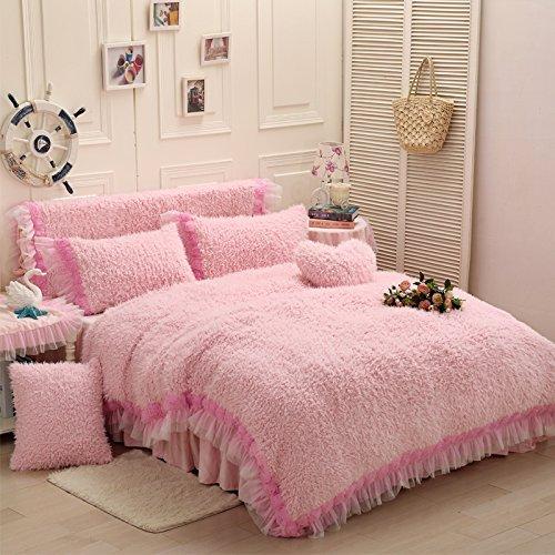 Winter Lovers Pink Duvet Cover Set Princess Bedding Girls Bedding Women Bedding Gift Idea, Queen Size