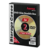Hama DVD Double Box Slim 5 Black