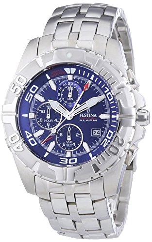 Festina F16095/4 - Reloj cronógrafo de cuarzo para hombre con correa de acero inoxidable, color plateado
