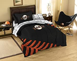 San Francisco Giants MLB Twin Comforter, Sheets and Sham (5 Piece Bed in a Bag) by Northwest