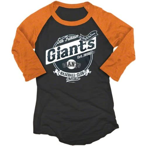 San Francisco Giants Womens Burnout 3/4 Sleeve Black