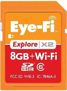 Eye-Fi Explore X2 8 GB SDHC 802.11b/g/n Wireless Flash Memory Card