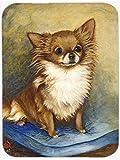 Chihuahua poil Long marron-Tapis de souris et dessous-de-plat, manique MH1036MP