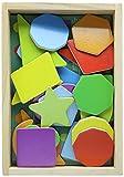 Melissa & Doug - Imanes magnéticos de madera con formas y colores (19277)