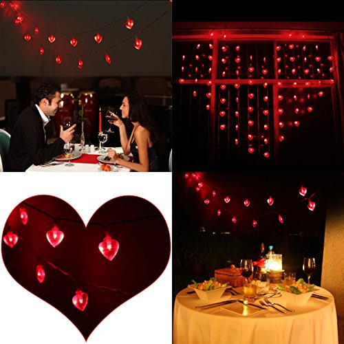Valentine Heart Shaped String Lights