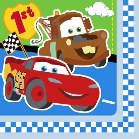 Hallmark Disney 1St Birthday Cars Lunch Napkins