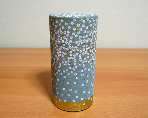 Ryu Mei Hanazono Little Flower Garden Tea Canister [Color:Gray] Japan