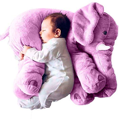 Rainbow Fox Baby Kind Elefant Schlaf Stuffed weichem Plüsch Kissen Plüschtiere besten Geschenke für Kinder, Zwei Größe für Ihre Wahl (Lila)