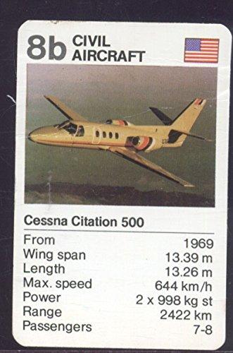 waddingtons-vintage-star-trumps-game-card-civil-aircraft-cessna-citation-500