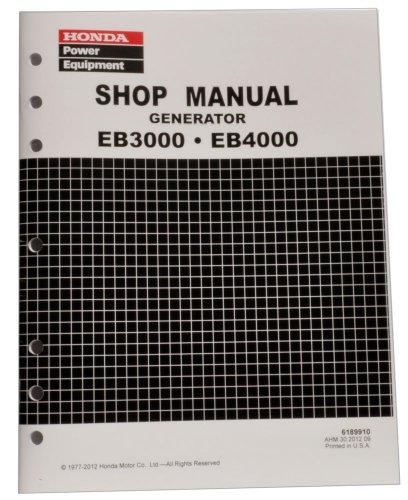 Honda EB3000 EB4000 Generator Service Repair Shop Manual