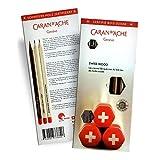 Caran d'Ache 3 Pack Swiss Wood Pencil Gift Set (3 HB Graphite Pencils, Eraser & Sharpener)