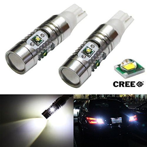 Ijdmtoy Extremely Bright 5-Piece Cree R4 Xp-E High Power 912 921 T10/T15 Led Backup Reverse Light Bulbs, Xenon White