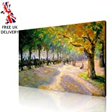 LARGE CANVAS - A1 30X20 INCH - PISSARRO HYDE PARK LONDON 1890 - FRAMED & READY TO HANG