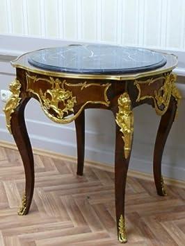 Mesa de centro de estilo envejecido barroco rococó Luis XV LaTa0760