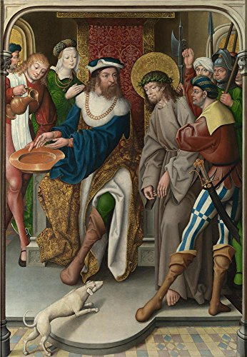 The High Quality Polyster Canvas Of Oil Painting 'Master Of Cappenberg (Jan Baegert) Christ Before Pilate ' ,size: 16 X 23 Inch / 41 X 59 Cm ,this Reproductions Art Decorative Canvas Prints Is Fit For Home Office Decoration And Home Decoration And Gifts