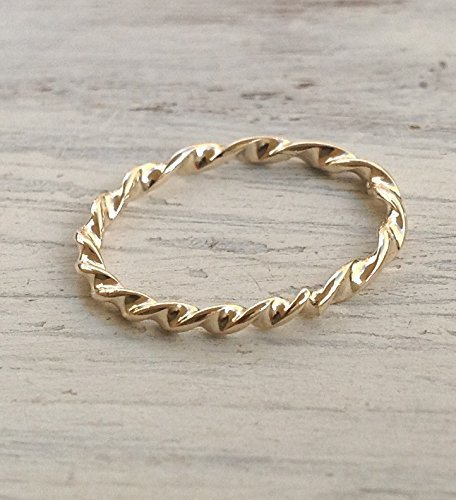 Twisted Wire Ring Gold Ring Stacking Ring Dainty Ring (Twisted Wire Ring compare prices)