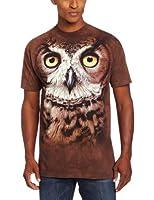 The Mountain Men's Great Horned Owl Head T-Shirt