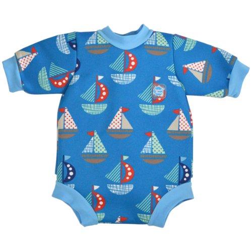 Splash About Neoprene Baby Wetsuit (Baby Snug) Featuring Built In Swim Diaper (Set Sail, Medium (0-3 Months)) front-361831