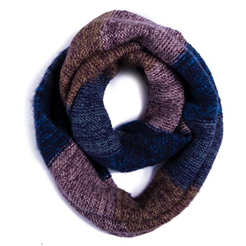 HDE Women's Winter Infinity Scarf Warm Knit Wrap Circle Loop Thick Cowl (Blue Purple ) (Cowl Scarf compare prices)