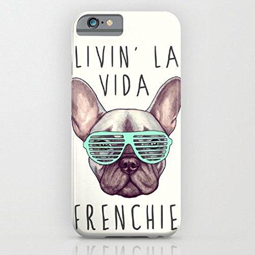 Decals Store French Bulldog Livin La Vida Frenchie New Tough iPhone 5/5s/SE Case Phone Cover 4.0 Inch (Bulldog Iphone 5s compare prices)