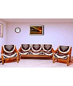 Buy Hargunz Dark Chocolaty 5 Seater Sofa Cover Set Online At Low Prices In In