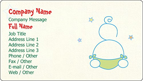Vistaprint Cream Baby Business Card Stickers front-778399