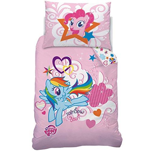 My little Pony 041875 Bettwäsche Rainbow, Baumwolle Linon, 140 x 200 und 70 x 90 cm