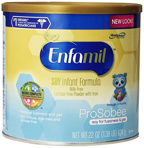 Enfamil ProSobee Formula - Powder - 22 oz - 4 pack - 1