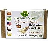 CAVEGIRL MINE Oatmeal Spice Bar Soap. 100% Certified Organic Coconut Oil. Made With Organic Essential Clove Oils...