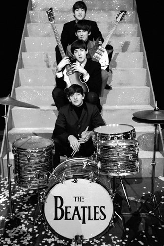 Beatles Staircase On Stage John Lennon Rock Music Poster 24 x 36 inches