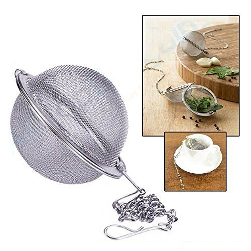Diam 5Cm Creative Tea Mesh Stainless Ball Locking Infuser Strainer Teakettles