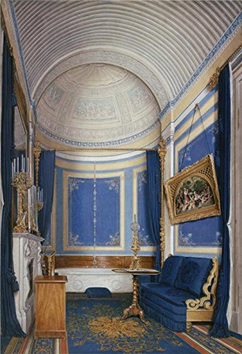 Oil Painting 'Hau Edward Petrovich,Interiors Of The Winter Palace,The Bathroom Of Grand Princess Maria Alex,1807-1887' Printing On Perfect Effect Canvas , 20x29 Inch / 51x74 Cm ,the Best Powder Room Artwork And Home Artwork And Gifts Is This Vivid Art Decorative Canvas Prints (Led Stock Ticket compare prices)