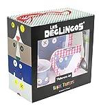 Déglingos 55717 - Set de vajilla, incluye plato + bol + vaso + cubiertos, diseño Hippipos el hipopótamo