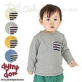 ボーダーポケット長袖Tシャツ/dumpdom(ダンプドム)秋 ベビー 赤ちゃん 男の子 80 グレー