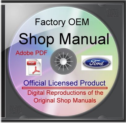 1962-63 Ford Galaxie Shop Manuals On Cdrom