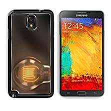 buy Msd Samsung Galaxy Note 3 Aluminum Plate Bumper Snap Case Close Up Of An Illuminated Vintage Hanging Light Bulb Over Dark Background Image 24689684