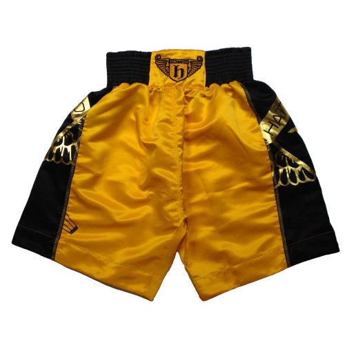 Hatton Boxing Pro Boxing Shorts Yellow/Black Youth