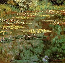 12X12 inch C. Monet Impressionist Canvas Art Repro Water Lilies 2