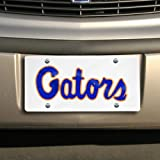 Gators Script White with Blue letters License Plate