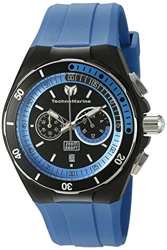 technomarine-mens-quartz-watch-with-black-dial-chronograph-display-and-blue-silicone-strap-tm-115162