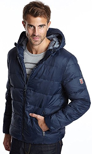 Мужская  стеганая куртка с капюшоном