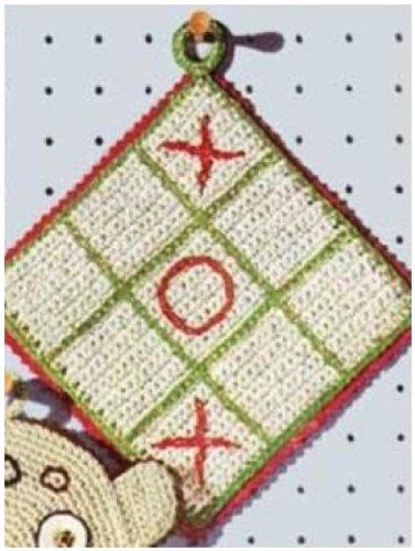 #0332 TIC TAC TOE POTHOLDER VINTAGE CROCHET PATTERN (Single Patterns)