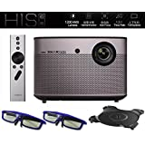 Native 1080p Projector, XGIMI H1S-Aurora 1080p HD Android Smart Projector 3D Home Theater Projector TV with Harman/Kardon Customized Subwoofer Stereo Build-in LiveTV Services