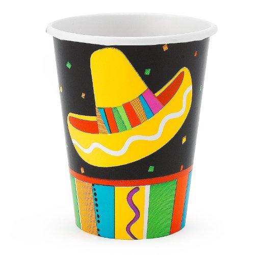 Fiesta Fun 9 oz. Paper Cups (8)